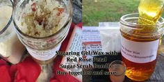 Save 10% -  Sugaring Wax & Red Rose Sugar Scrub Bundle - Natural Sugaring Gel/Wax- Red Rose Sugar Scrub - Exfoliation is KEY to Successful Hair Removal - Bundle and Save - pinned by pin4etsy.com **Limited time only!  TWO FREE SKINCARE  SAMPLES WITH  EVERY PURCHASE!** NO Coupon Code needed!  VALID ONLY FOR PURCHASES  MADE BETWEEN  12/30/2015 Midnight -  01/08/2016 Midnight