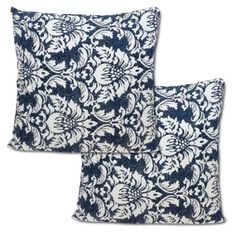 Whiteblue Floral Cotton Pillowcases 16 X 16 Spring Decorations Set Of 2 Sofa Cushion Covers, Pattern Fashion, Pillow Cases, Spring Decorations, Cushions, Fancy, Throw Pillows, Floral, Cotton