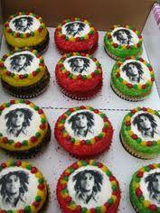 Rasta bday cupcakes