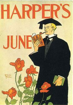 Harper's Monthly art posters by Edward Penfield