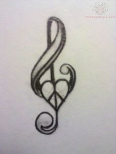 Music Love And Peace Tattoo Design