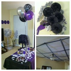 Purple And Black Birthday Party I Threw For My Good Friends Bday Everything Came From The Dollar Tree City