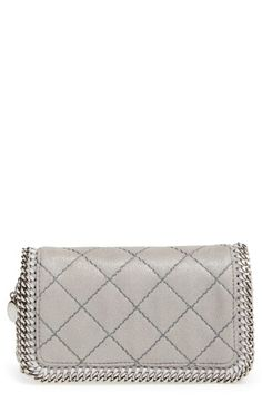 STELLA MCCARTNEY 'Falabella' Quilted Crossbody Bag. #stellamccartney #bags #shoulder bags #lining #polyester #crossbody