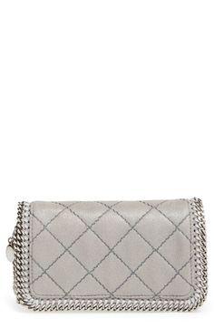 STELLA MCCARTNEY 'Falabella' Quilted Crossbody Bag. #stellamccartney #bags #shoulder bags #lining #polyester #crossbody