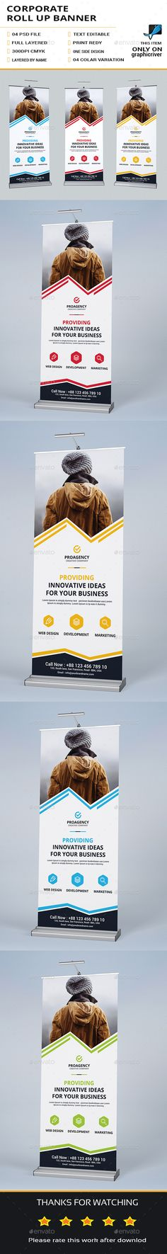 Corporate Roll Up Banner Template PSD. Download here: https://graphicriver.net/item/corporate-roll-up-banner/17330237?ref=ksioks