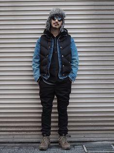 Valley権藤裕輝さんのBALABUSHKA REMNANTSバラブシュカ レムナンツを使ったコーディネート Vest Jacket, Winter Jackets, My Style, How To Wear, Fashion, Vest Coat, Winter Coats, Moda, Sleeveless Jacket