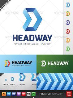 Headway Logo Template: http://graphicriver.net/item/headway-logo/5136694?ref=webdesignlabel