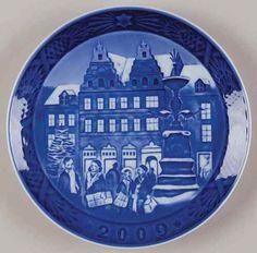 royal copenhagen christmas plate xmas at amagertov 2009 ebay danish christmas christmas plates - Royal Copenhagen Christmas Plates