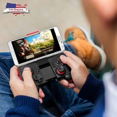 BEBONCOOL Wireless Bluetooth Game Controller Clip Android Phone Tablet Gear VR #BEBONCOOL