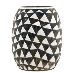 Triangular Vase, Black/White, House Doctor