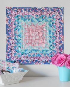 Nebula mini quilt by Stacy Olson. Pattern from Quilt Petite book.
