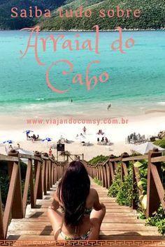 Dicas completas de Arraial do Cabo, as praias, onde hospedar, restaurantes e outros. Saiba mais em www.viajandocomsy.com.br Places To Travel, Travel Destinations, Places To Visit, Brazil Tourism, Go Brazil, Beach Tumblr, Paradise Places, Beach Photos, Dream Vacations