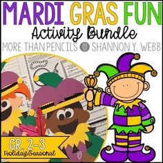 Let the Good Times Roll---it's time for Mardi Gras, y'all! Whether you live somewhere that celebrates this lively yearly tradition or are just looking for a fun way to incorporate culture and teach your students all about Mardi Gras, this bundle is perfect for you!