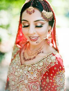 Muslim bridal look in red lehenga St Louis Union Station, Mehendi Night, White Kurta, Yellow Theme, Red Lehenga, Wedding Function, Hair And Makeup Artist, Event Photos, Dance The Night Away