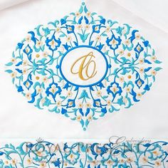 Machine Embroidery Design Blue Eastern Blank Monogram #machineembroiderydesign #machineembroidery #Monogram #eastern #easternembroidery #дизайнмашиннойвышивки #машиннаявышивка #вышивканаполотенце #вышивкамонограммы #embroidery #embroidrypattern