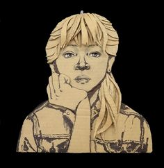 Cardboard Portraits by 12th Graders. - All About Papercutting