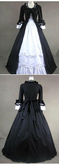 Mackenzie - Vampire Goth Unique Vintage Retro Wedding Gown Ball Duchess High Profile Medieveal Society $230 via @Shopseen