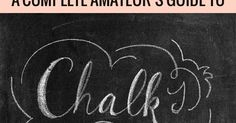 The Happy Tulip: Chalk Lettering — Tips, Ideas, and Techniques [Part One]