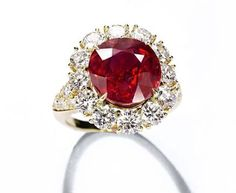 Van Cleef & Arpels 8,53 carat ruby and diamond ring Christie's Geneva.