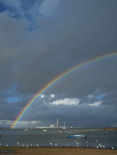 A rainbow over the Medway from Sharps Green Bay
