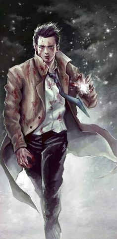 Castiel fan art (this reminds me of the show Constantine)