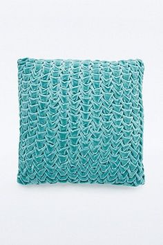 Quilted Velvet Blue Cushion