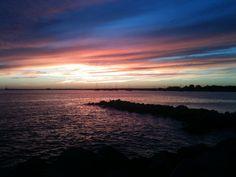 Stonington Harbour sunset
