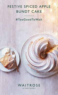 Delicate and light, our festive spiced apple bundt cake with mascarpone cream is a seasonal sensation.  Click on the image for the full Waitrose & Partners recipe.