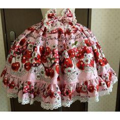BABY, THE STARS SHINE BRIGHT (Baby the Stars Shine Bright) Cherry Rendezvous Lolita Skirt Women's Skirt (Knee Length Skirt) product picture
