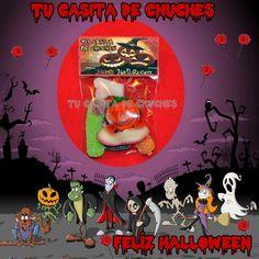 Bolsita halloween, indispensable para salir inmune en el Truco-Trato de la noche más terrorifica. DIsponible tambien sin alergenos. Encuentra tus bolsitas halloween en www.tucasitadechuches.com