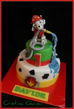 Marchall Paw Patrol Cake