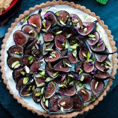 Fig Tart with Mascarpone and Pistachios | Recipe from Williams Sonoma Taste