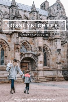 Rosslyn Chapel near Edinburgh Scotland. Family travel guide for adventure seekers and history enthusiasts! Edinburgh Scotland, Scotland Travel, Ireland Travel, Edinburgh Travel, Scotland Vacation, Travel With Kids, Family Travel, Places To Travel, Places To Visit