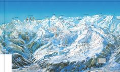 Les Sybelles ski map #lessybelles