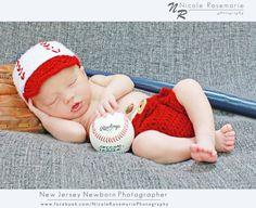 Newborn Baseball Hat and Diaper Cover by MadhatterknitsCo on Etsy, $30.00