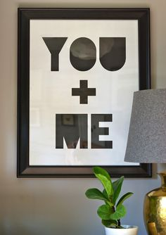 Oleander and Palm: You + Me Printable Poster