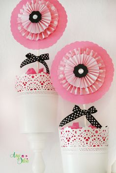 Paris party  rosettes by Any Silva