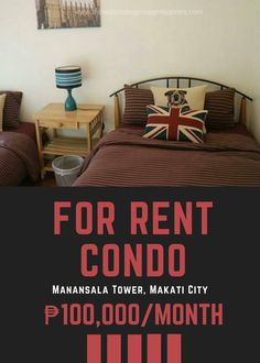 For Rent:  2BR Condo - Manansala Tower Makati City 99 Sqm Fully Furnished 100000/Month  NOTE: For inquiries please call or message 09778591201. (PLS DON'T WRITE A COMMENT AS WE MAY NOT SEE IT OR BE ABLE TO RESPOND TO IT)  http://ift.tt/2rhEzzT