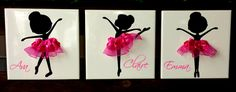 Ballerina With Tutu Ceramic Tile - Kelly Belly Boo-tique  - 2