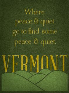 from 50 states design project  vive la #vermont