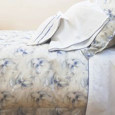 Voile butterfly duvet cover and shams.
