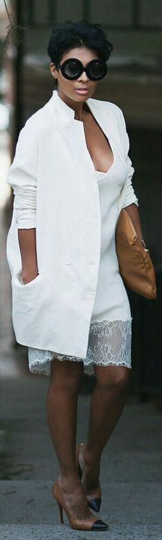 Slip Dress + Boyfriend Blazer / Fashion by Kyrzayda