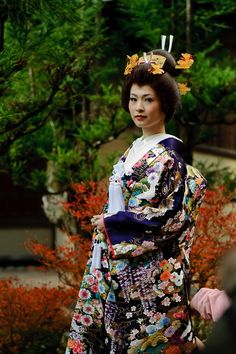 Wedding Kimono in Shouzan Gardens
