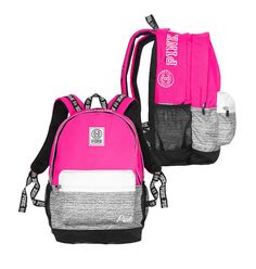 Backpacks and Bookbags 169292: Nwt Victoria S Secret Love Pink Campus  Backpack Pink Marl Gray