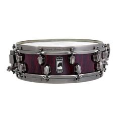 """Mapex 14 x 4 5/8"""" Black Panther Versatus Russ Miller Signature Snare Drum,  Mahogany / Maple Hybrid Shell, Top Side - Batter Rounded and Reinforced 45 Degree, Snare Side - Rounded 35 Degree Bearing Edges, Transparent Cherry Over Burl Finish and Black Brushed Chrome Hardware"""