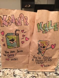 Pin for Later: This Mom Continues to Outdo Herself With Hilarious Lunch Bag Jokes Follow Me On Instagram, My Mom, Paper Shopping Bag, Hilarious, Reusable Tote Bags, Jokes, Parenting Tips, Lunches, Doodles