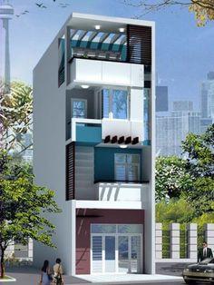 Mẫu thiết kế nhà phố đẹp phong cách hiện đại -> Phối cảnh 3