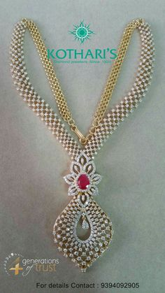 Check out real diamond necklace . Check out real diamond necklace . Real Diamond Necklace, Diamond Pendant Necklace, Diamond Jewelry, Gold Jewellery, Diamond Mangalsutra, Bridal Jewelry, Diamond Choker, Fashion Jewellery, Gold Pendant