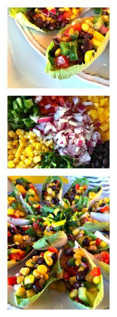 Black Bean Salad Stuffed Endive
