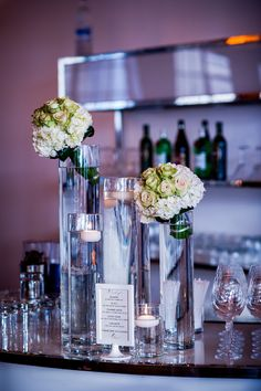 wedding bar - reuse bouquets here?